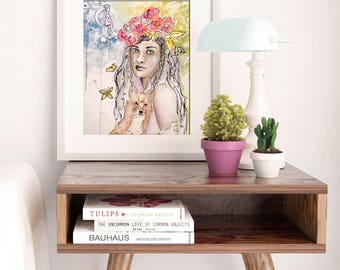 THE PROTECTOR | Whimsical Fairy Art Print