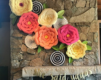 Lot de 30 feuilles de fleurs en mousse grand quentin mousse for Decoration murale 974
