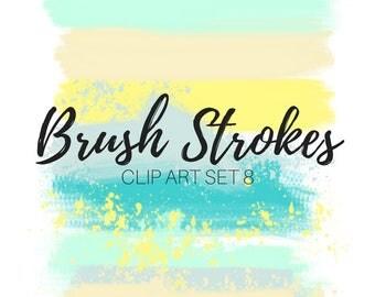 Brush Stoke clip art - Ink Splatter Clip Art - Paint Brush Clip Art - Paint brush -  Commercial use