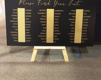 Wedding Seating Sign. Seating Plan, Sign, wedding sign, Find your seat, wedding sign,