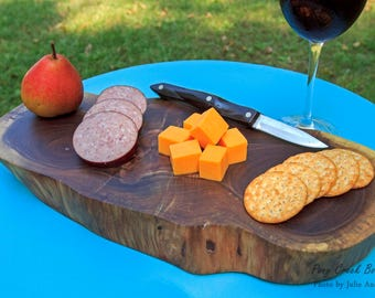 Black Walnut Tree Slice / Cheese / Charcuterie Serving Board / Foodie Gift / Wedding Gift / Anniversary Gift