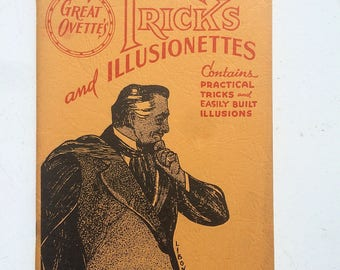 vintage book ''Great Orvette's Tricks and Illusionettes""