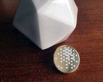 Tiny Triangles Pin