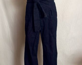 Double back pocket wrap jeans. One of a kind.
