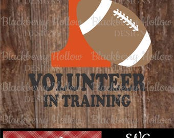 Tennessee Volunteer In Training, Cut Files, SVG, Silhouette, DXF, Heat Transfer Projects