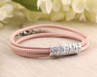 Leather anniversary bracelet - Leather bracelets for women - Anniversary bracelet leather - Anniversary bracelet for her - Leather bracelet