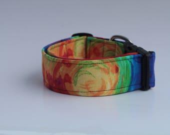 Paint Collection : Large Swirls Dog Collar