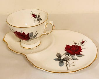 Vintage Royal Albert Sweet Romance / Royal Albert Tea Cup and Plate / Royal Albert Tea Cup and Saucer / 1950's Royal Albert