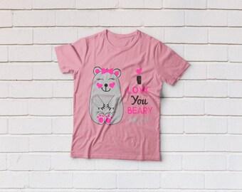 Valentine svg, Valentines day svg, Bear svg, I Love you beary svg Files, Cricut, Cameo, Cut file, Files, Clipart, Svg, DXF, Png, Pdf, Eps