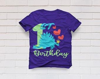 1st birthday svg, First birthday svg, Dinosaur svg, Birthday girl svg, Crown svg, One svg, One year old svg Cricut, Cameo, Svg, DXF, Png Eps