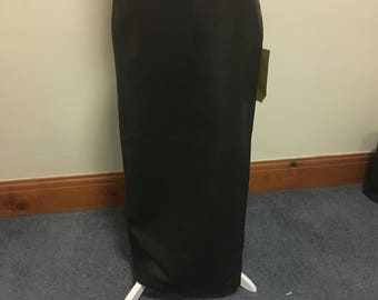 Black leather skirt size 8
