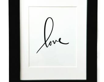 Love Brush Letter Print