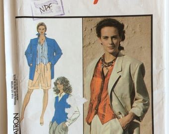 Vintage Style sewing pattern 1535 - Misses' Loose fitting jacket and waistcoat