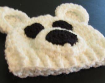 Polar Bear Hat, Newborn Polar Bear Hat, Bear Hat, Animal Hat, Photo Prop, Photography Prop Hat
