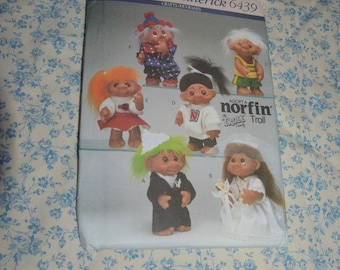 Butterick 6439 Norfin Troll Doll Clothes Sewing Pattern - UNCUT