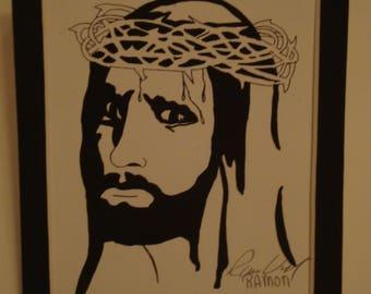 Jesus Christ our Savior -(  ink print)