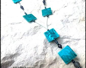 Women pucks shells Mint Bohemian style necklace
