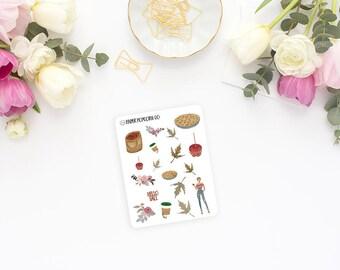 Hello Fall - Mini Deco Sheet - Glossy Planner Stickers