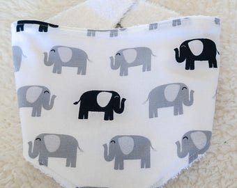 Baby Bandana Bib - Elephants