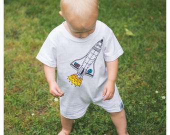 Fly Me To The Moon Romper - by Moon Moppets