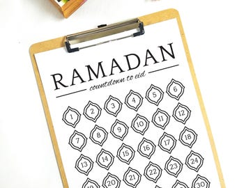 Ramadan Countdown to Eid Chart Printable