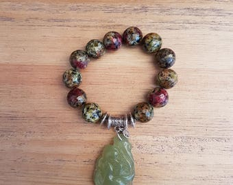 Women - 22 bracelet, Jade and Agate.