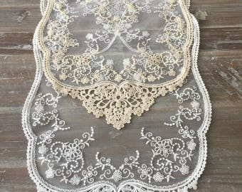 Lace runner 16''*32'' and 16''*44'' 100% Cotton