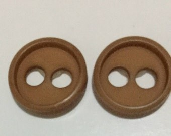 Small Button Earrings