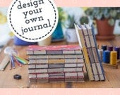 Design Your Own Custom Journal Japanese Washi Hand Bound Coptic Stitch Dotted Notebook Bullet Journal Sketchbook - Fountain Pen Friendly