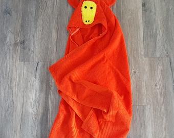 Hooded animal towel,hooded giraffe towel, baby hooded towel,kids hooded bath towel,childrens hooded towel,easter basket stuffers toddlers