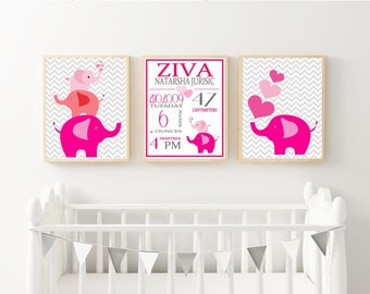 Birth stats print, wall art, birth announcement poster, birth details, customised,  digital image set
