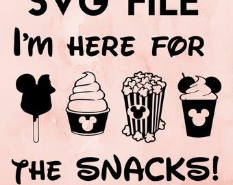 disney svg cricut file I'm here for the snacks disneyland disney princess svg disney #snackgoals svg file disney princess svg disney svg svg