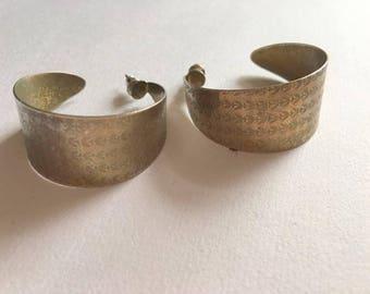 Silver tone hoops