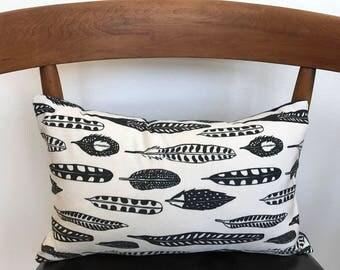 Feather lumbar pillow