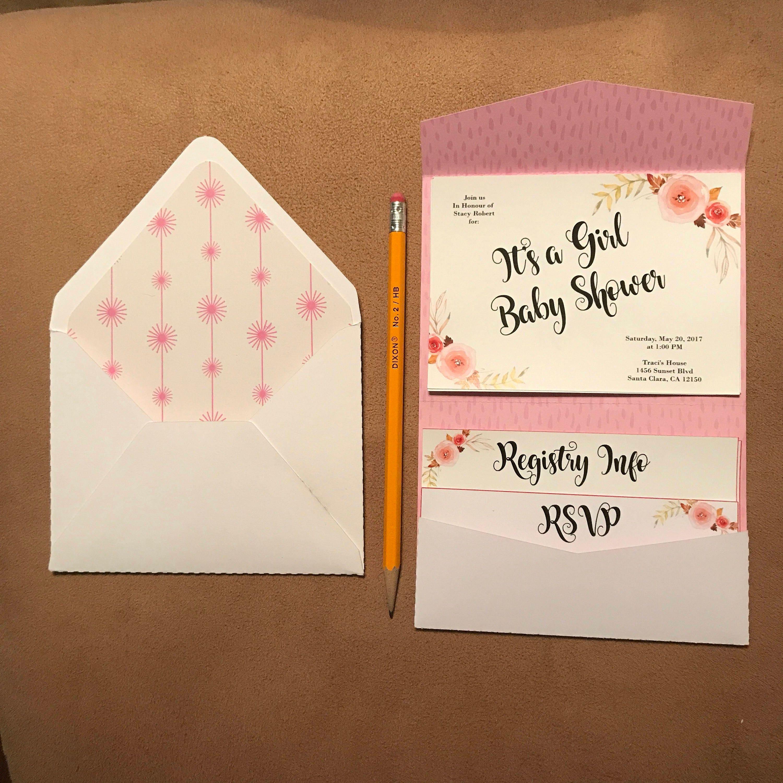svg petite pocket fold invitation use horizontally or