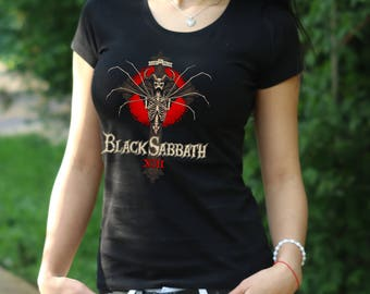 Black Sabath T-shirt Ozzy Osbourne shirt Black Sabath Tshirt Womens Shirt Rock Tee Rock Heavy Metal T-shirt Dio t shirt