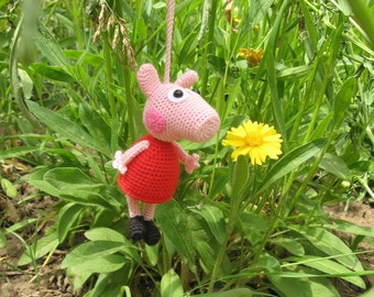 Peppa pig, Crochet peppa pig, amigurumi Peppa pig, Peppa pig toy, cute pig, soft Peppa pig, charm Peppa, mini Peppa pig, crochet pig, Peppa
