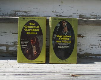 Two Dark Shadows Paperback Books by Marilyn Ross, The Demon of Barnabas Collins and Barnabas Collins and The Warlock, Vampire Novels
