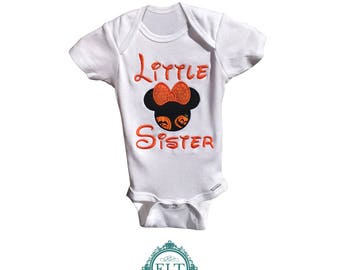 Little Sister Halloween Shirt for Girls (1-6 years old)