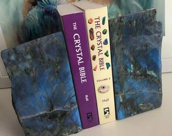 Gorgeous Labradorite Book Ends