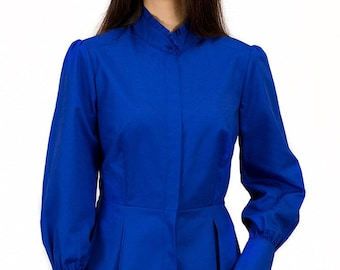 Victorian Blouse in Bluebell Blue