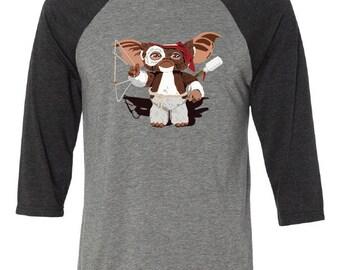 Rambo Gizmo Graphic Three-quarter sleeve shirt in Gray/Black
