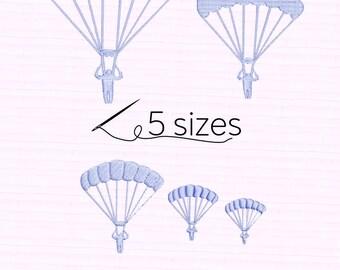 SALE! Parachute, skydive, parachuting  5 sizes Embroidery files