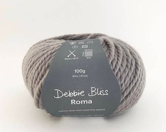 Debbie Bliss - Roma - One ball of yarn (100 grams) - Steel - Colour: 53003