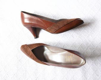 Dark Brown Pointy Shoes Buckles