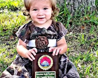 Camo Dress Camoflauge clothing baby girl babies hunting outdoor camping birthday