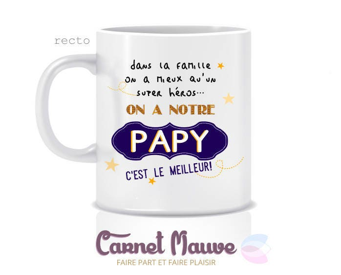 cadeau papy f te des grands p res mug papy c 39 est le. Black Bedroom Furniture Sets. Home Design Ideas