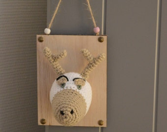 Mini Mister Deer Trophy crochet hand made