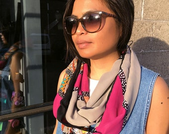 The Traveling Scarf - Multicolored Abstract