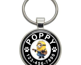 Pet ID Tag - Stuart ( Minions ) - Pet Tags,  Dog Tags, Cat Tags, Dog ID Tags, Cat ID Tags